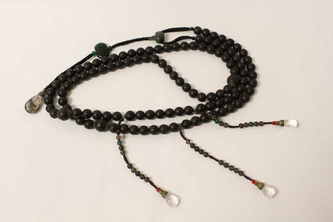 Wood bead necklace - 4