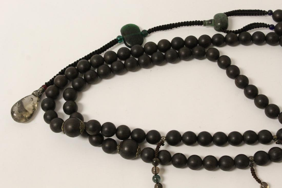 Wood bead necklace - 5