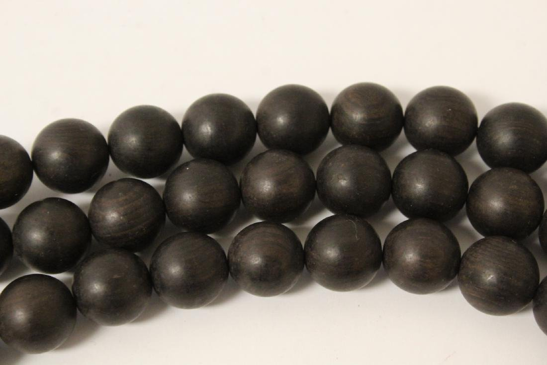 Wood bead necklace - 9