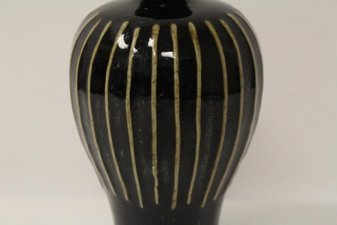 Song style brown glazed vase - 4