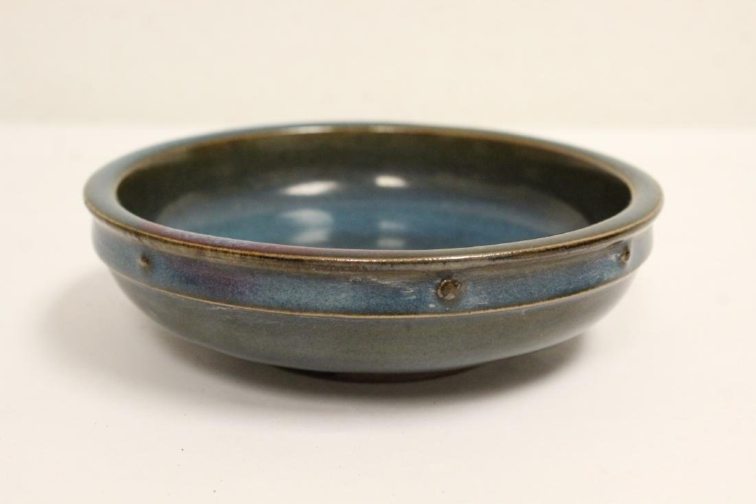 A Song style blue glazed jar and a Song style bowl - 6