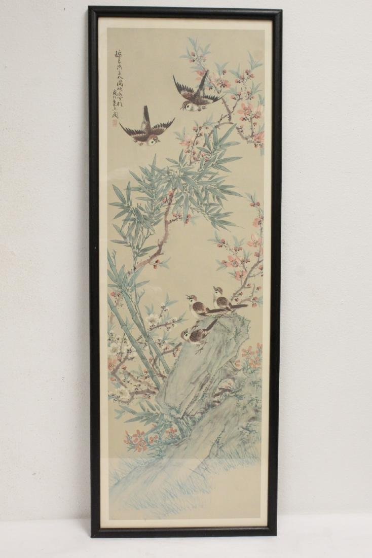 4 Chinese framed prints - 4