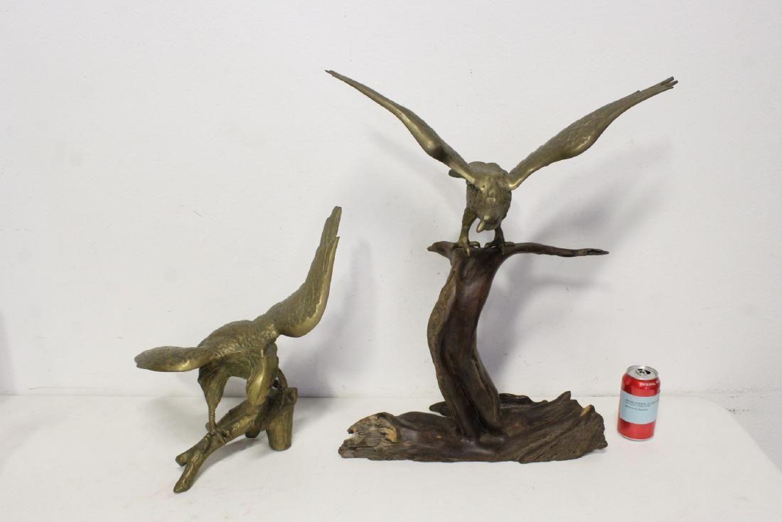 2 brass sculptures