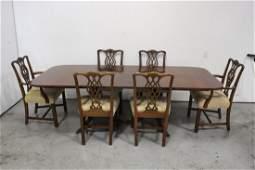 7 piece mahogany dining set