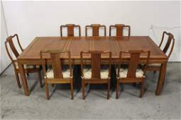 Chinese 9 piece rosewood dining room set