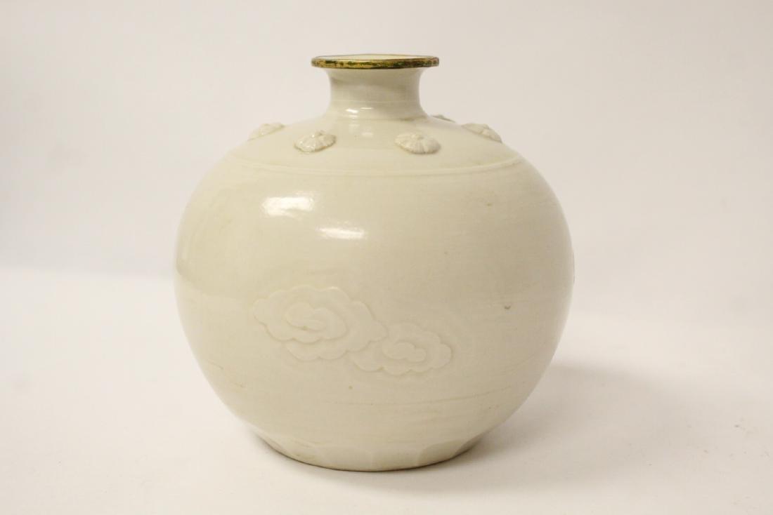 Small white porcelain jar - 3