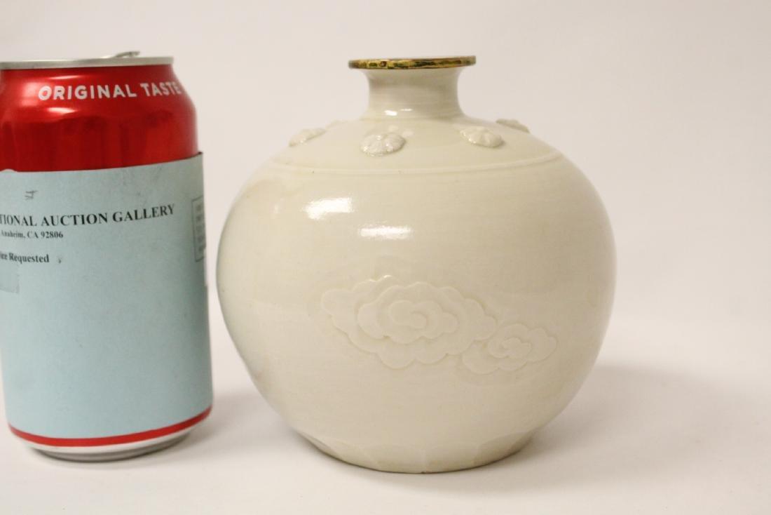 Small white porcelain jar - 4