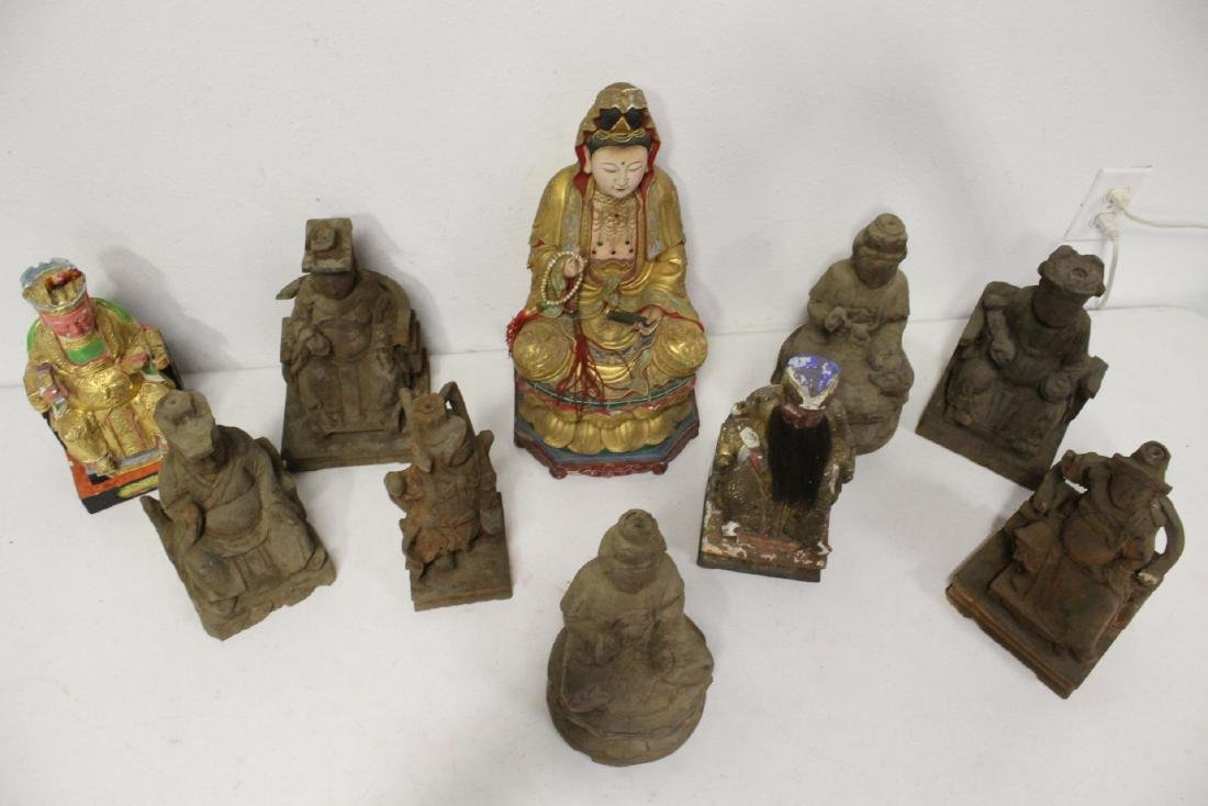 10 Chinese wood carved Buddha - 2