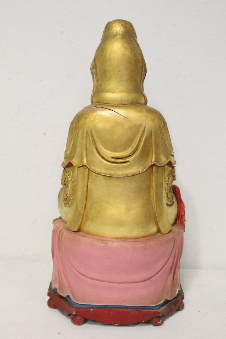 10 Chinese wood carved Buddha - 4