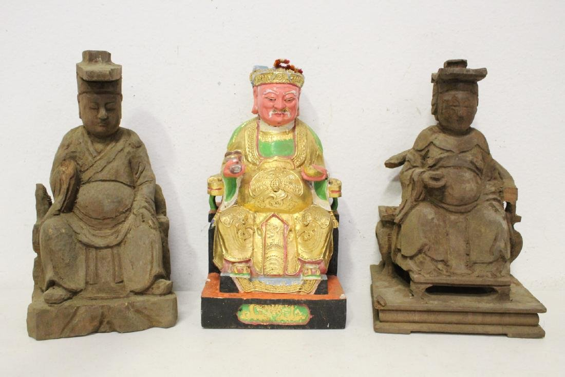 10 Chinese wood carved Buddha - 5
