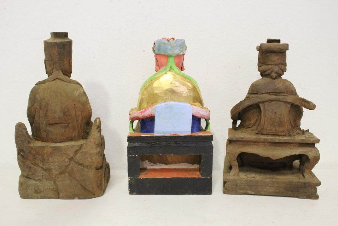 10 Chinese wood carved Buddha - 6