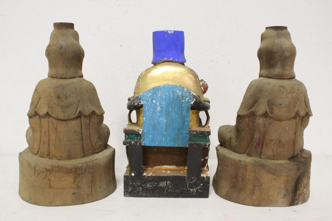 10 Chinese wood carved Buddha - 8