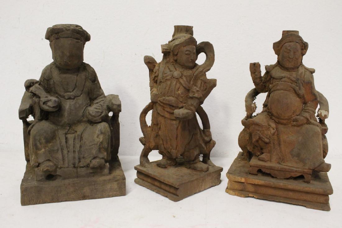 10 Chinese wood carved Buddha - 9