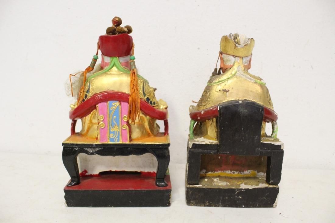 10 Chinese wood carved Buddha - 10