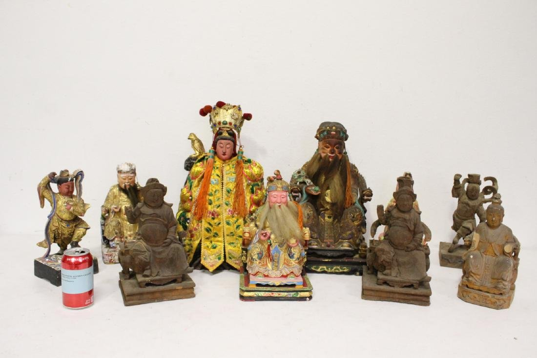 10 Chinese wood carved Buddha