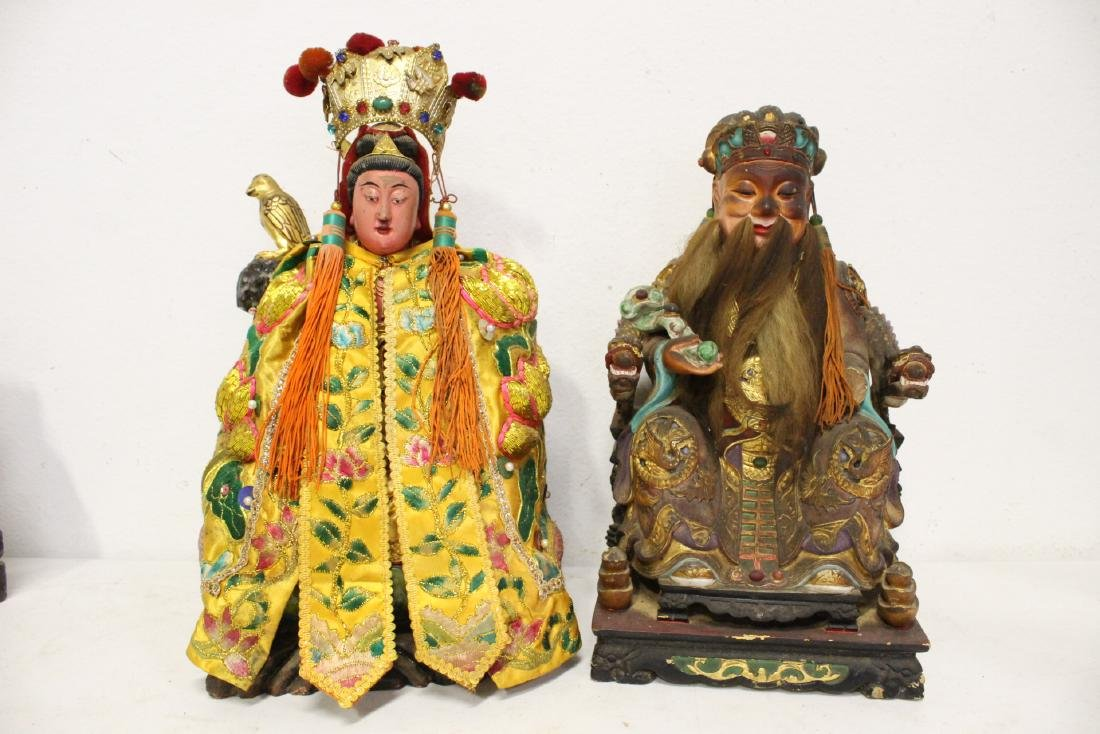 10 Chinese wood carved Buddha - 3