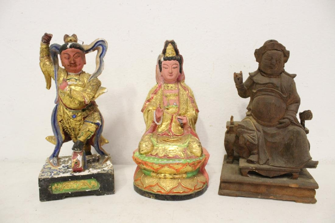 10 Chinese wood carved Buddha - 7