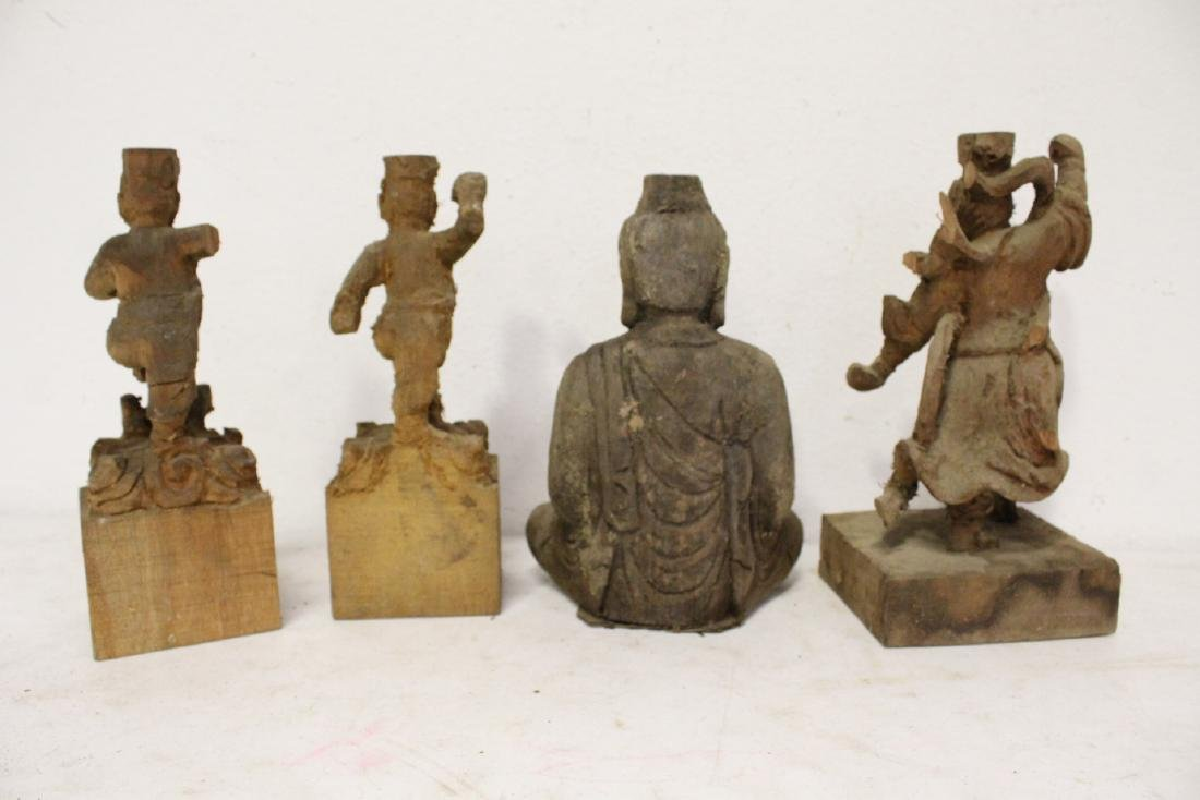 12 Chinese wood carved Buddha - 10