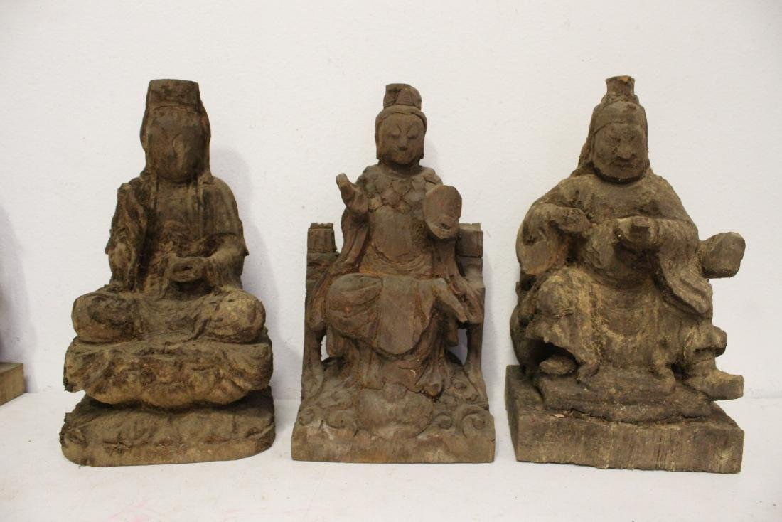12 Chinese wood carved Buddha - 3