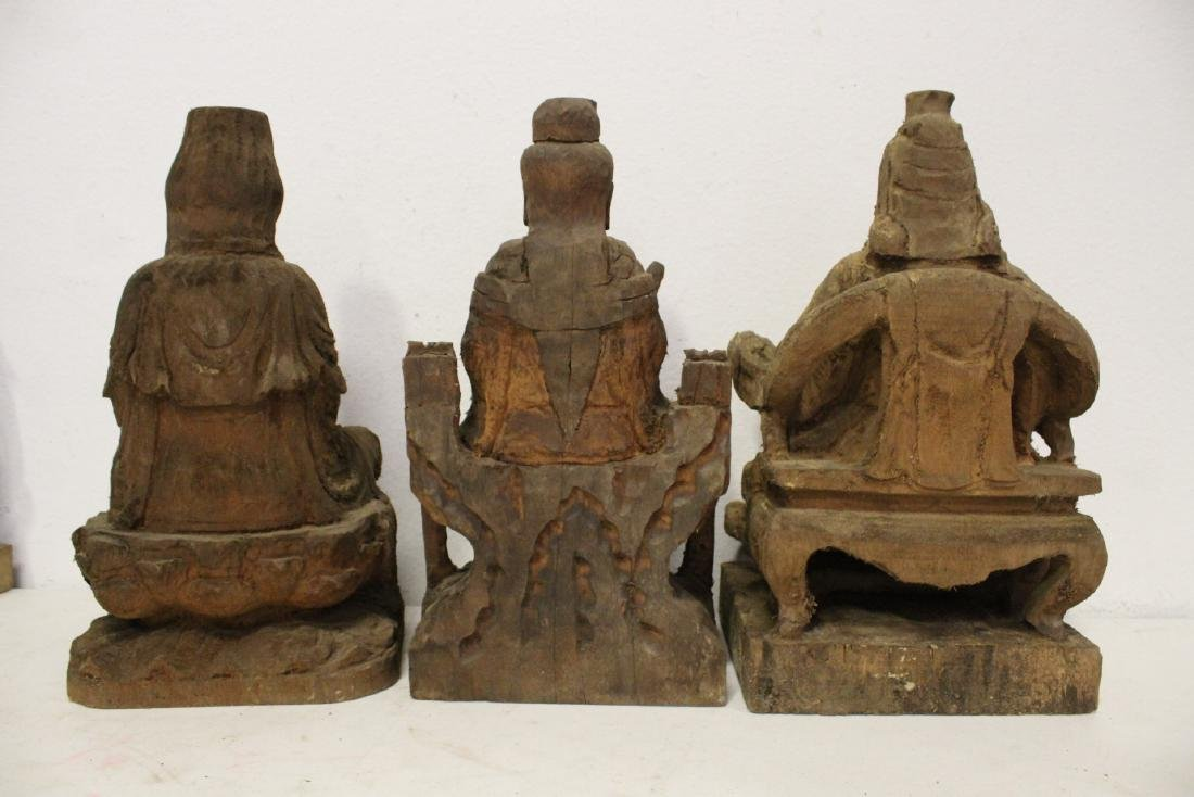 12 Chinese wood carved Buddha - 4