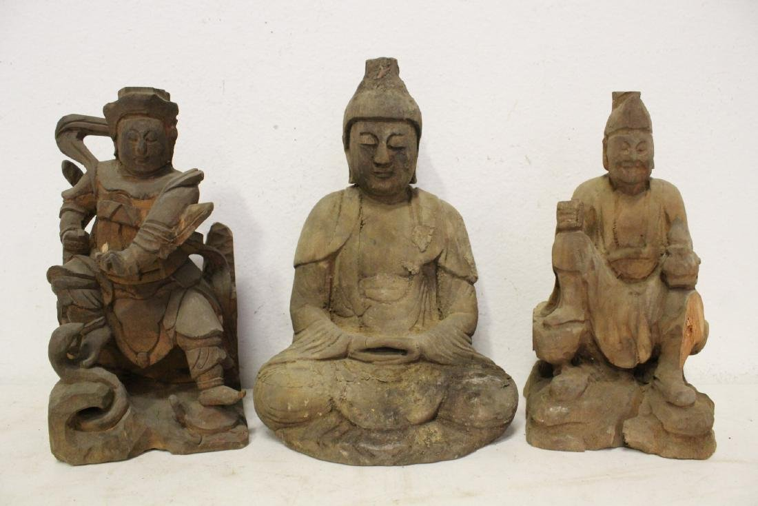 12 Chinese wood carved Buddha - 7