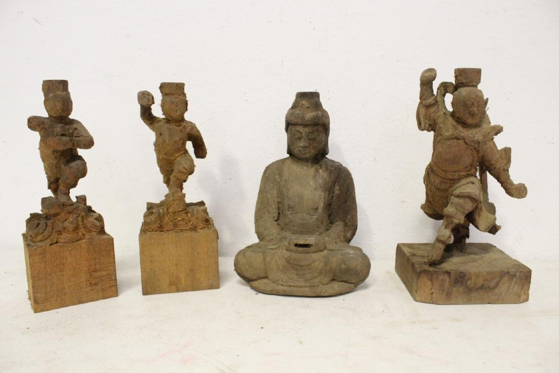 12 Chinese wood carved Buddha - 9