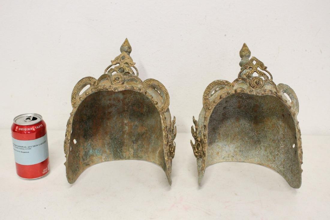 2 Chinese bronze masks