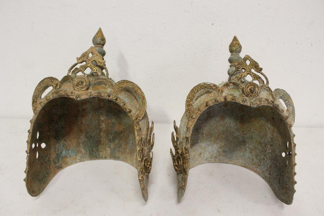 2 Chinese bronze masks - 2