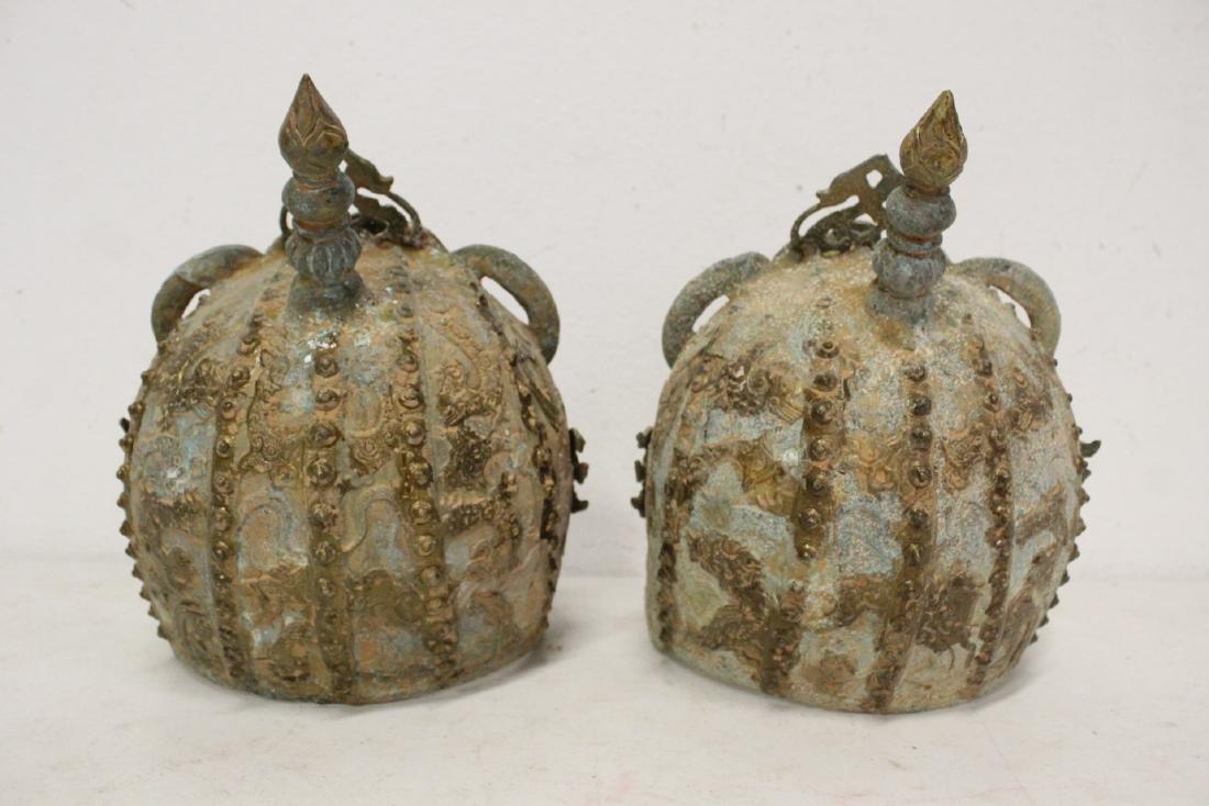 2 Chinese bronze masks - 4