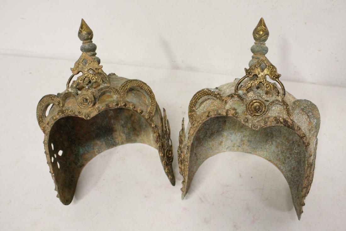 2 Chinese bronze masks - 7