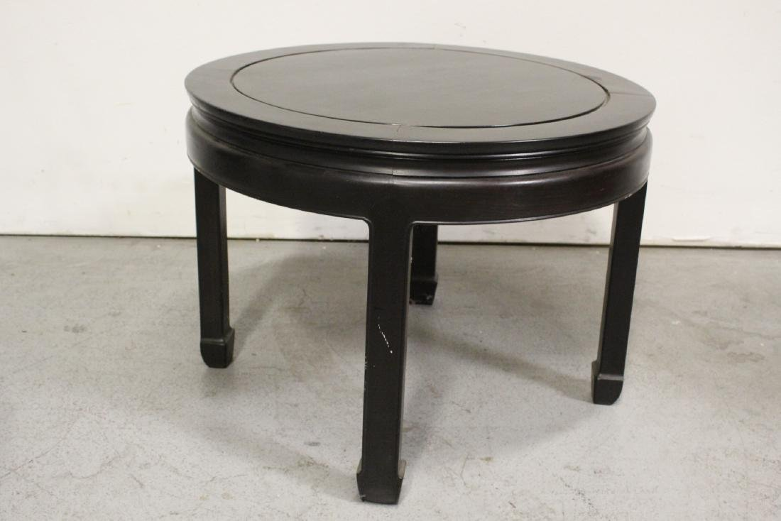 Chinese vintage rosewood round table - 4