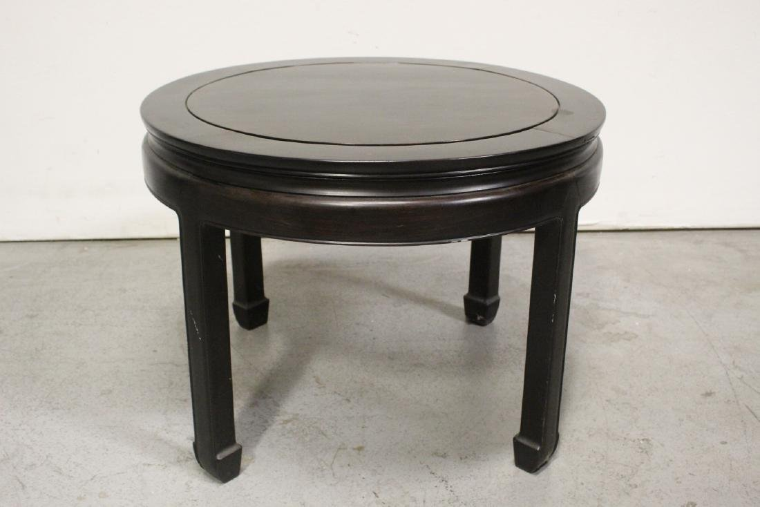 Chinese vintage rosewood round table - 5