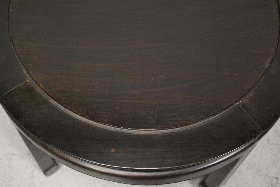 Chinese vintage rosewood round table - 7