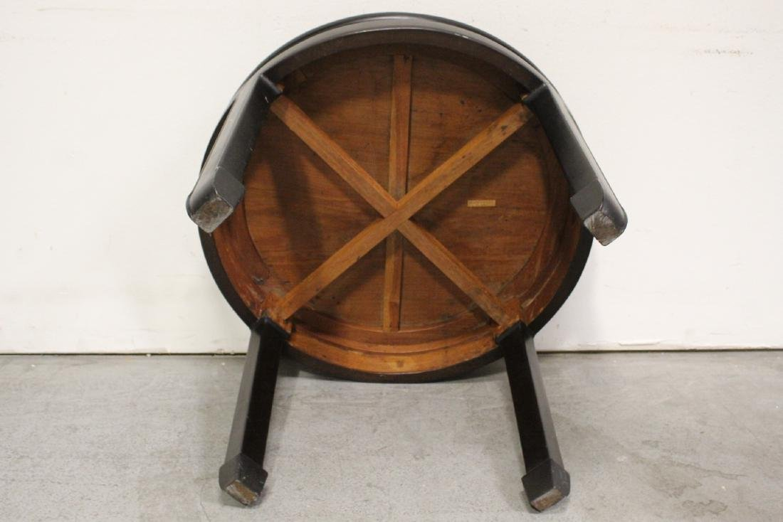 Chinese vintage rosewood round table - 9