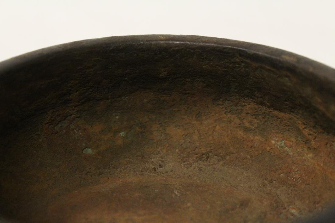 Chinese bronze open censer - 8