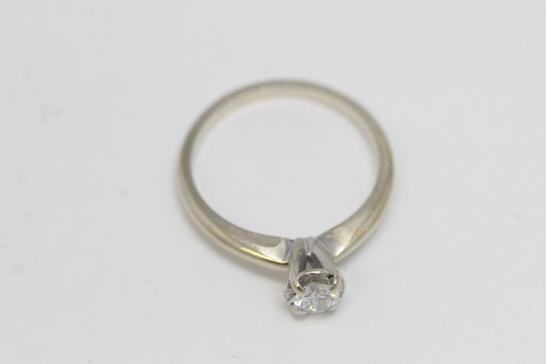 14K W/G diamond ring - 6