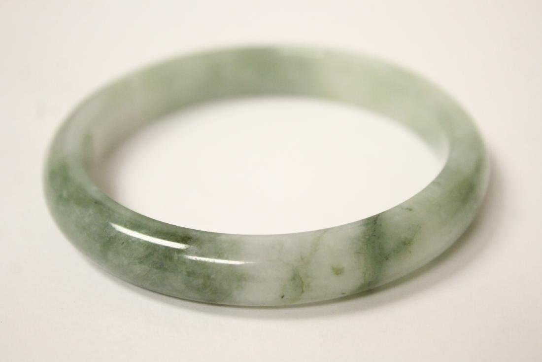 14K jadeite & pearl bracelet and a jadeite bangle - 3