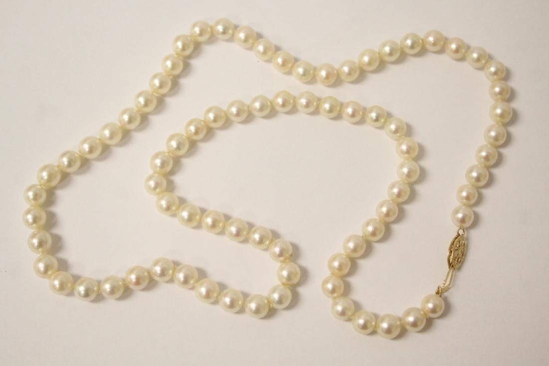 Mikimoto cultured pearl necklace - 3
