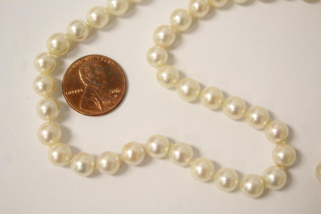 Mikimoto cultured pearl necklace - 4