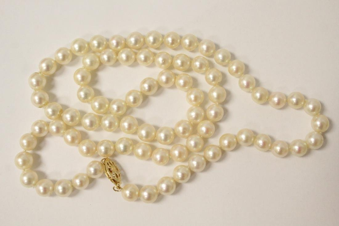 Mikimoto cultured pearl necklace - 8