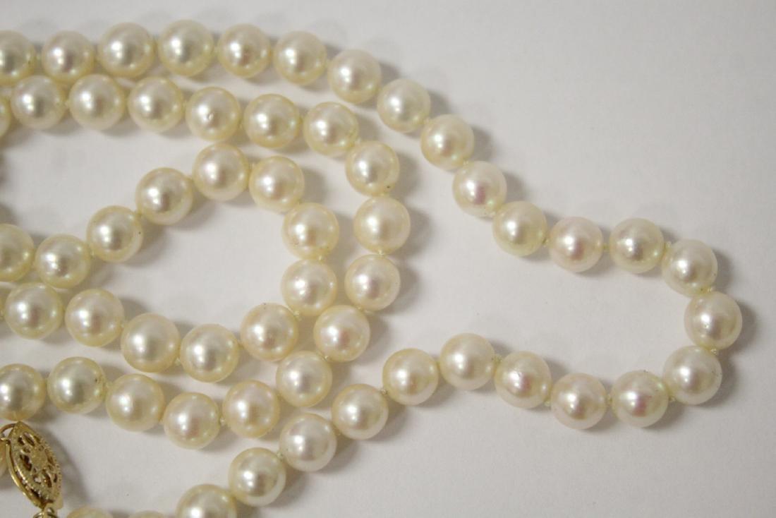 Mikimoto cultured pearl necklace - 9
