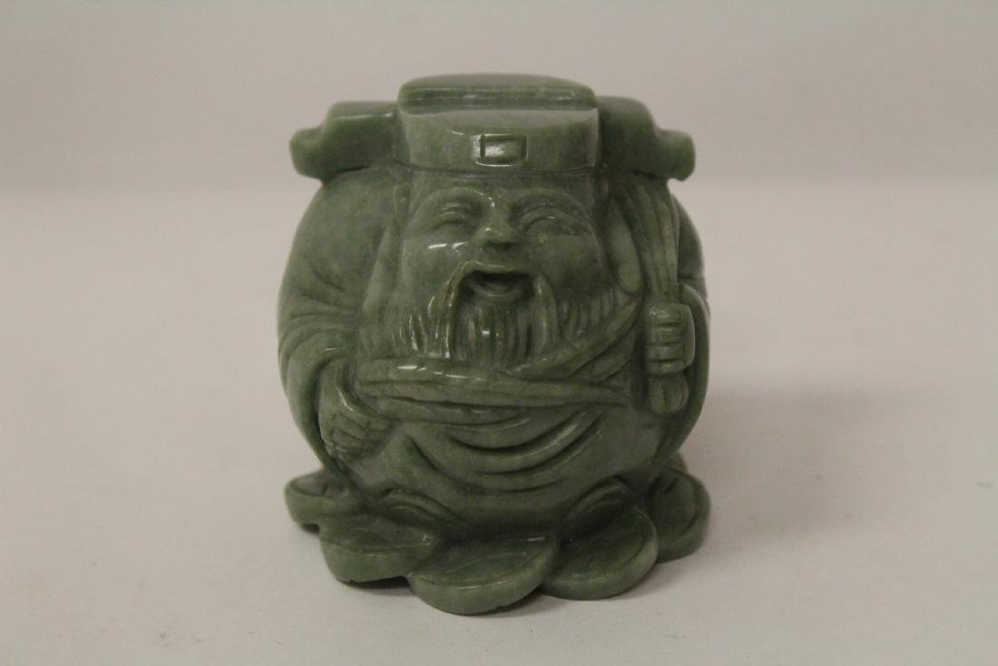 A jadeite like stone carving