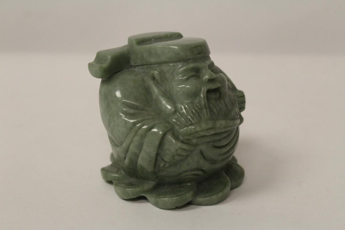 A jadeite like stone carving - 3