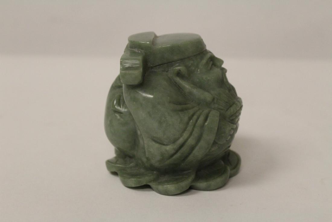 A jadeite like stone carving - 4