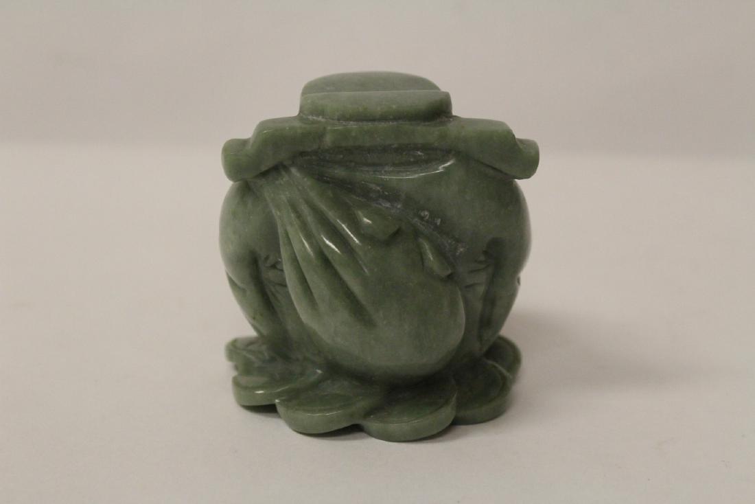 A jadeite like stone carving - 5