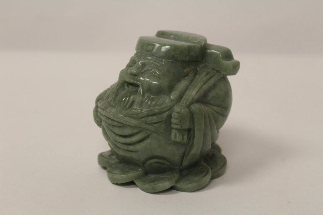 A jadeite like stone carving - 7