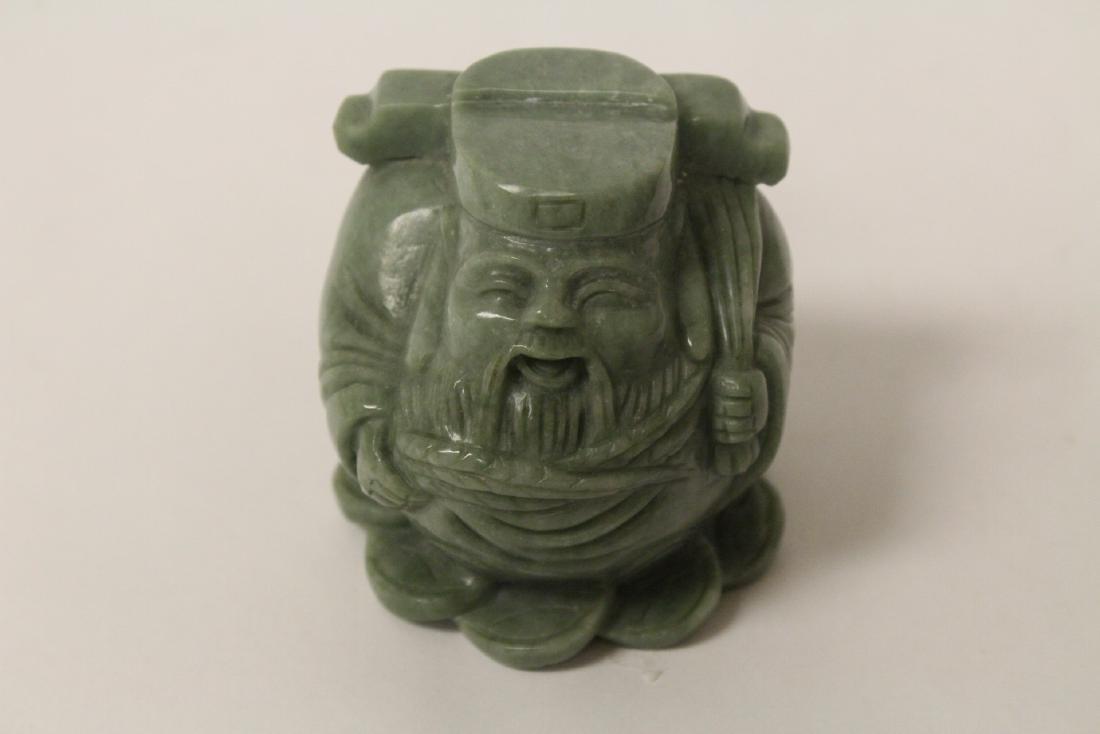 A jadeite like stone carving - 8
