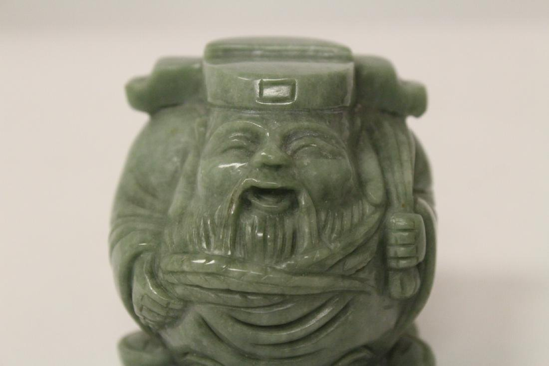 A jadeite like stone carving - 9