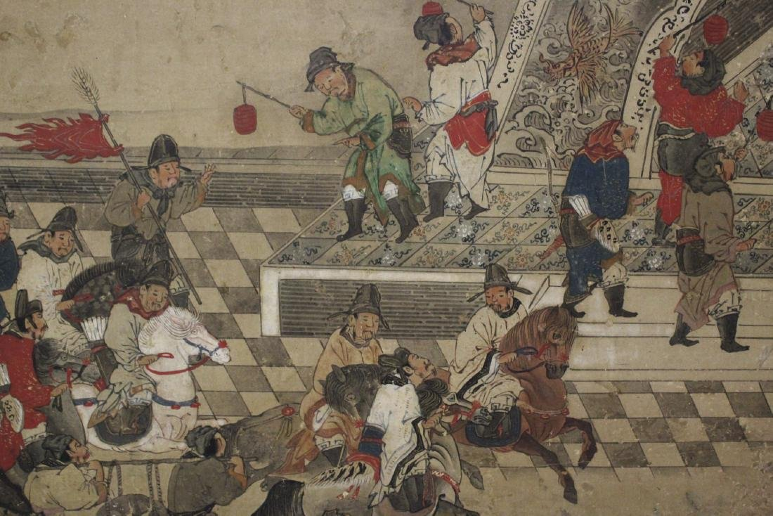 Antique Chinese watercolor on paper - 10