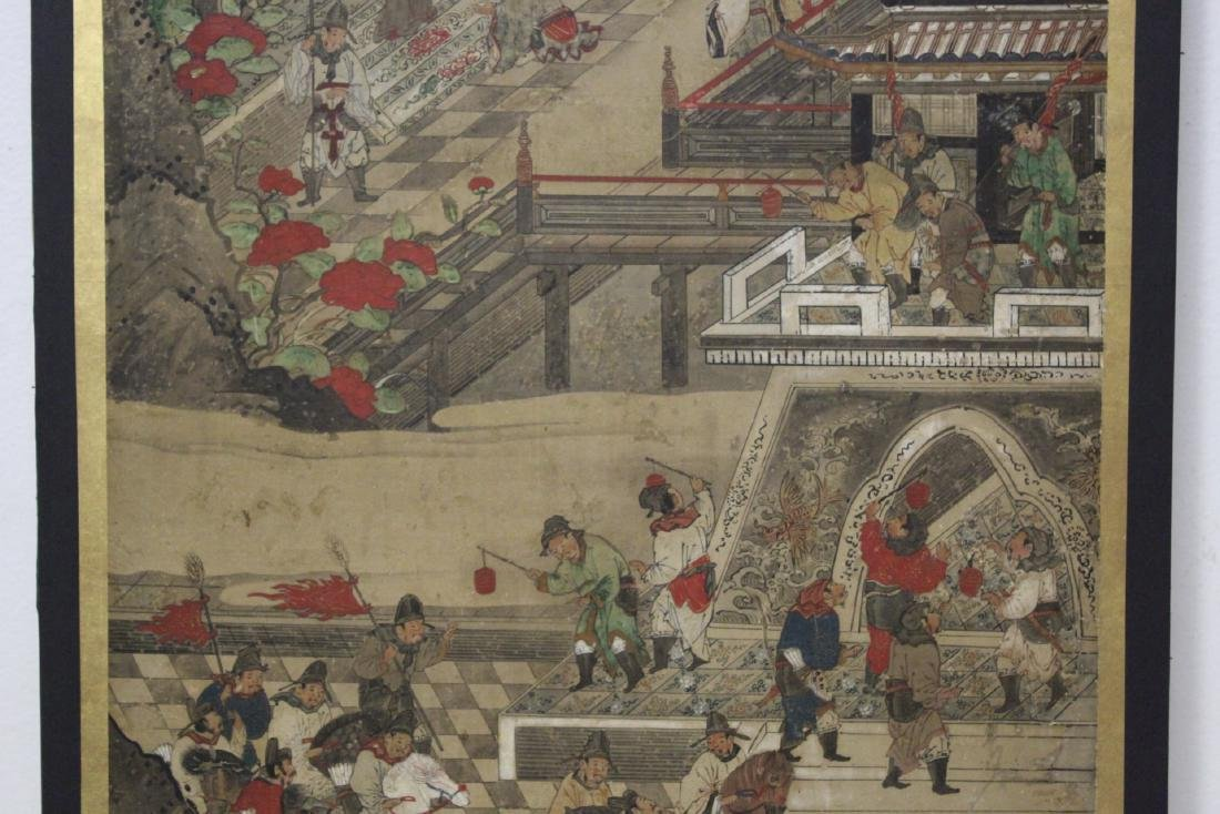 Antique Chinese watercolor on paper - 5